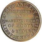 1 Penny (Levy, Lipman - Wellington (mule)) – avers