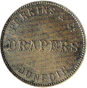 ½ Penny (Perkins & Co. - Dunedin) – avers