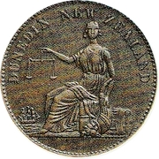 ½ Penny (Perkins & Co. - Dunedin) – revers