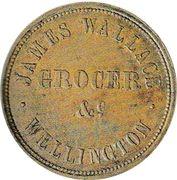 ½ Penny – avers