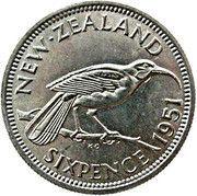 6 pence - George VI – revers