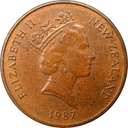 1 cent - Elizabeth II (3e effigie) – avers