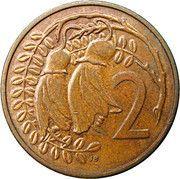 2 cents - Elizabeth II (3e effigie) – revers