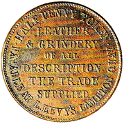½ Penny (Hall, Henry J. - Levy, L. - Christchurch) – revers