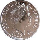 5 Dollars - Elizabeth II (Gorfou du Fiordland) – avers
