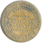 ½ Penny (Hurley, J. and Co. - Wanganui) – revers