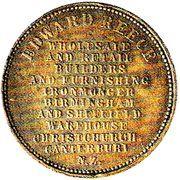 ½ Penny (Reece, Edward - Christchurch) – avers