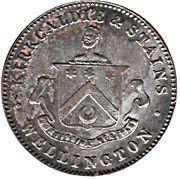 ½ penny Kirkcaldie & Stains (Wellington) – avers