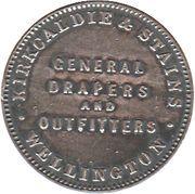 ½ penny Kirkcaldie & Stains (Wellington) – revers
