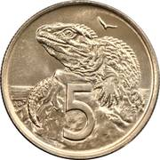 5 cents - Elizabeth II (2e effigie) -  revers