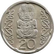 20 cents - Elizabeth II (4e effigie, petit module) -  revers