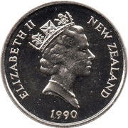 5 cents - Elizabeth II (3e effigie) -  avers