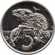 5 cents - Elizabeth II (3e effigie) -  revers