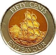 50 cents (H.M.S. Endeavour) -  avers
