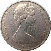10 cents / 1 shilling - Elizabeth II (2e effigie) – avers