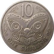 10 cents / 1 shilling - Elizabeth II (2e effigie) – revers