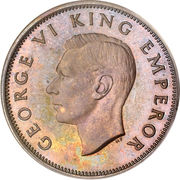 ½ penny - George VI – avers