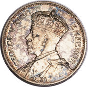 1 shilling - George V -  avers