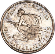 1 shilling - George V -  revers