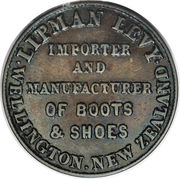 ½ penny Levy, Lipman (Wellington) – avers