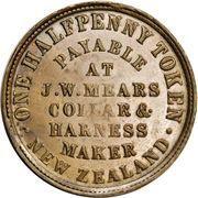 ½ penny Mears, J.W (Wellington) – revers