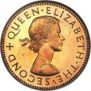 ½ penny - Elisabeth II – avers