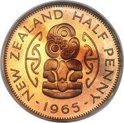 ½ penny - Elisabeth II – revers