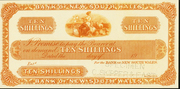 10 Shillings (Bank of New South Wales) – avers