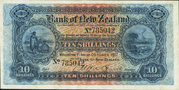10 Shillings (Bank of New Zealand) -  avers