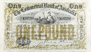 1 Pound (Commercial Bank of Australia Ltd.) – avers
