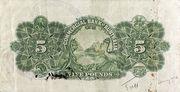 5 Pounds (Commercial Bank of Australia Ltd.) -  avers