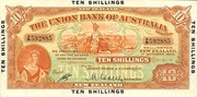 10 Shillings (Union Bank of Australia Ltd.) – avers