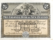 1 Pound (Colonial Bank of New Zealand) – avers