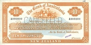 10 Shillings (Bank of Australasia) – avers