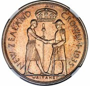 1 couronne - George V (Waitangi, essai) – revers