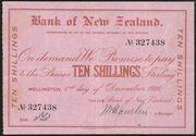 10 Shillings (Bank of New Zealand) – avers