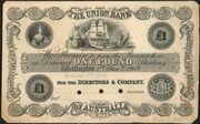 1 Pound - Victoria (Union Bank of Australia Ltd.) – avers