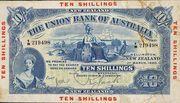 10 Shillings (Union Bank of Australia Limited) -  avers