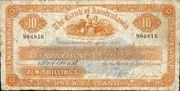 10 Shillings (Bank of Australasia) – avers