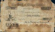 1 Pound (Bank of Otago) – avers