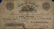 1 Pound (Bank of Auckland) – avers