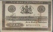 10 Pounds (Bank of Australasia) -  avers