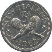 3 pence - Elisabeth II – revers