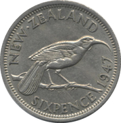 6 pence - Georges VI – revers