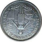 ½  couronne - George VI (centenaire de la Nouvelle-Zélande) – revers