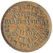 ½ Penny (Ashton, H. - Auckland) – avers