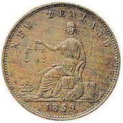 ½ Penny (Ashton, H. - Auckland) – revers