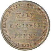 ½ Penny (Dease, E. F. - Hall, H. J. - Christchurch) – avers