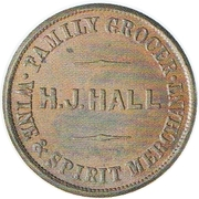 ½ Penny (Dease, E. F. - Hall, H. J. - Christchurch) – revers