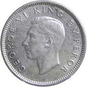6 pence - George VI -  avers